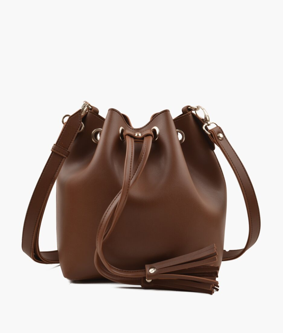 Horse brown bucket bag