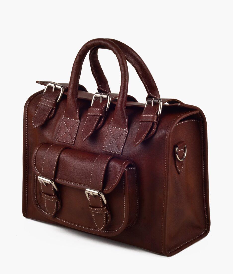 Chocolate satchel bag