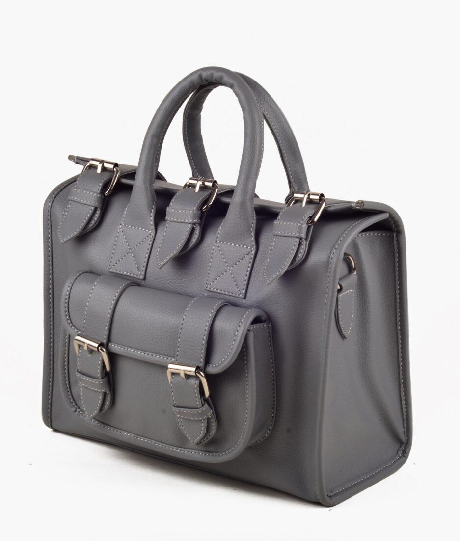 Slate satchel bag
