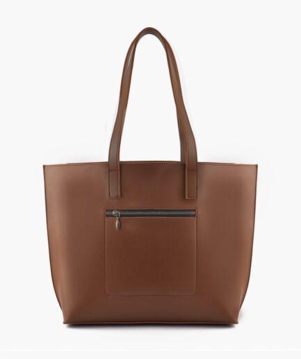 Horse brown long handle tote bag