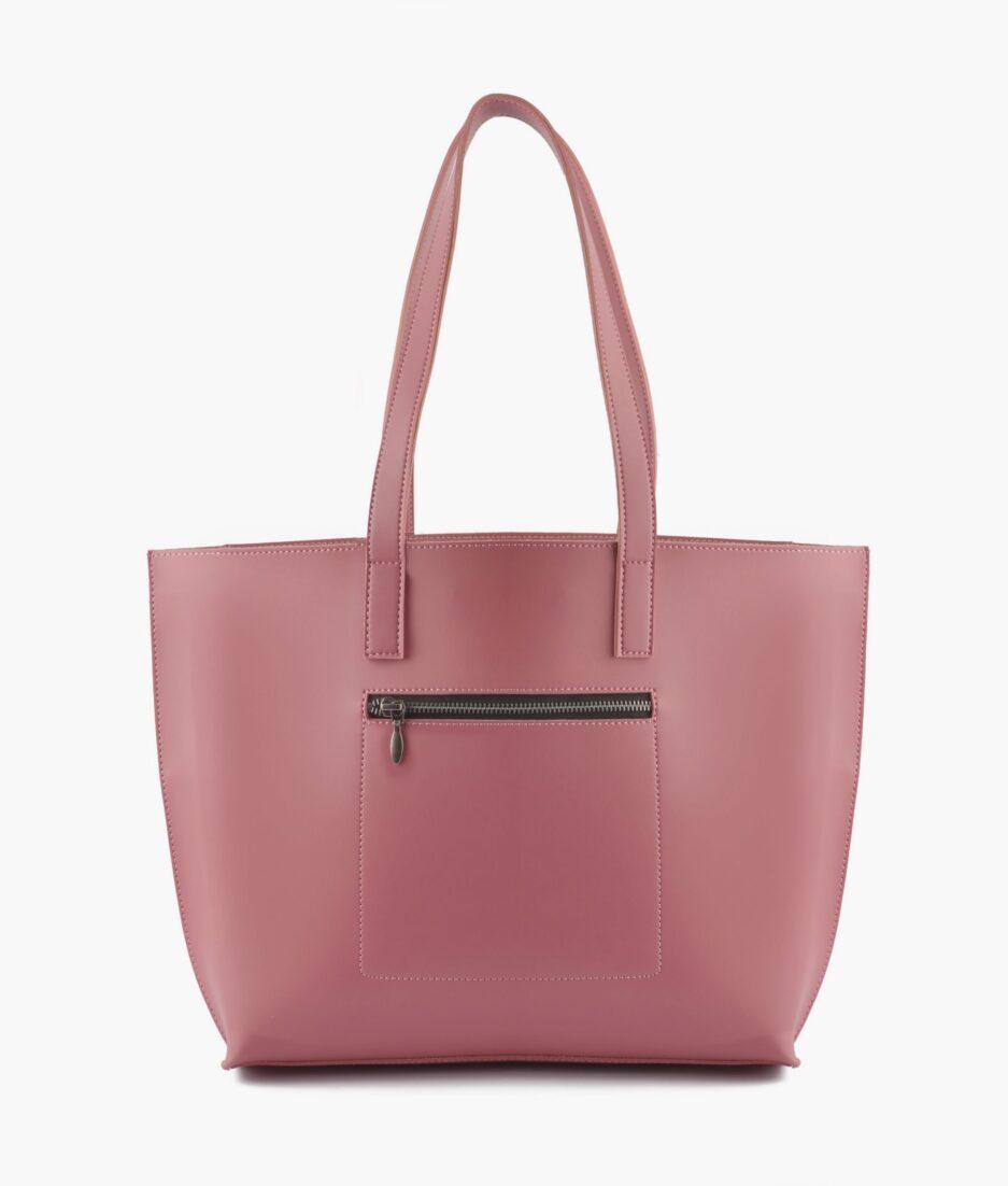 Pink long handle tote bag