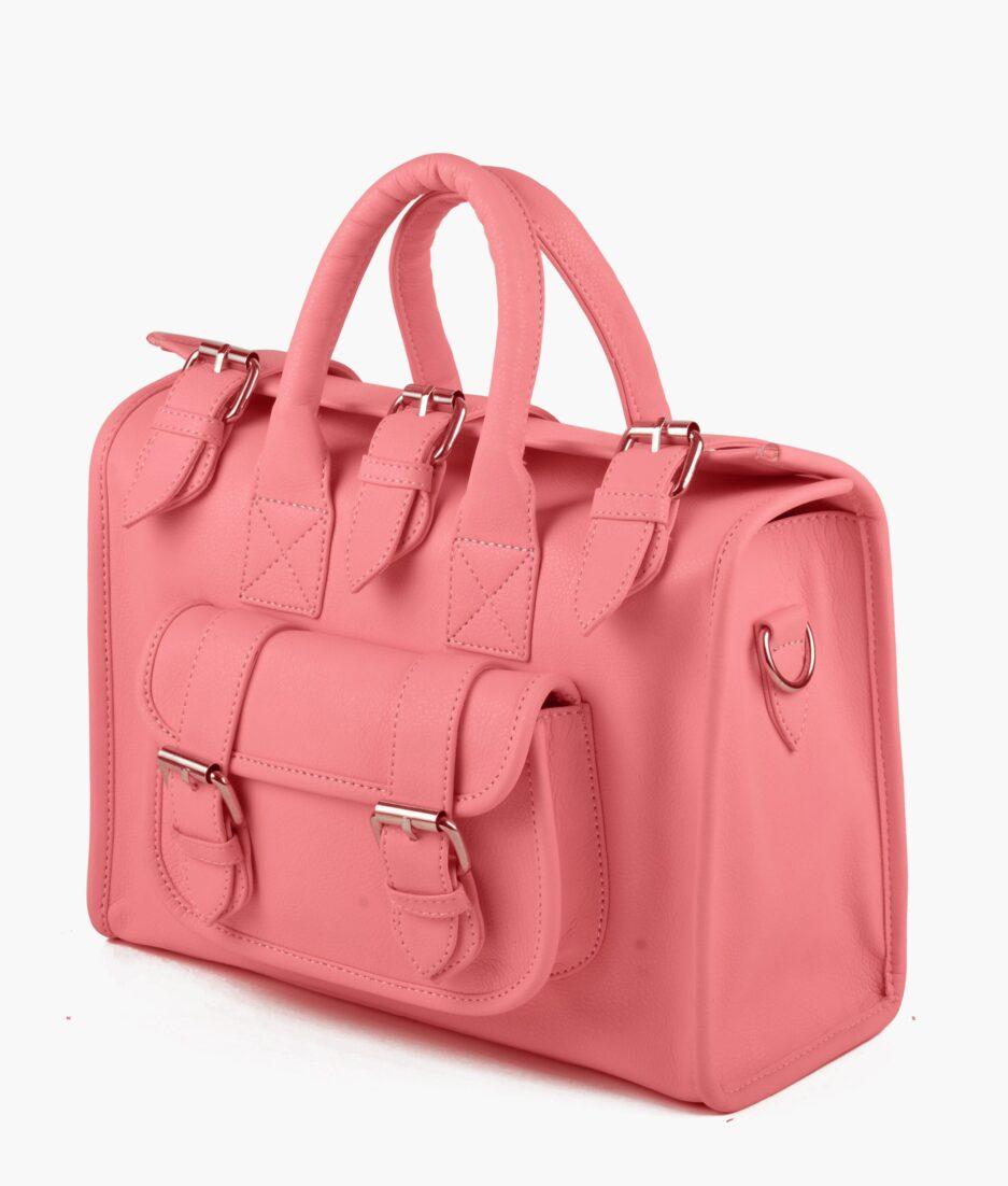 Rose pink satchel bag