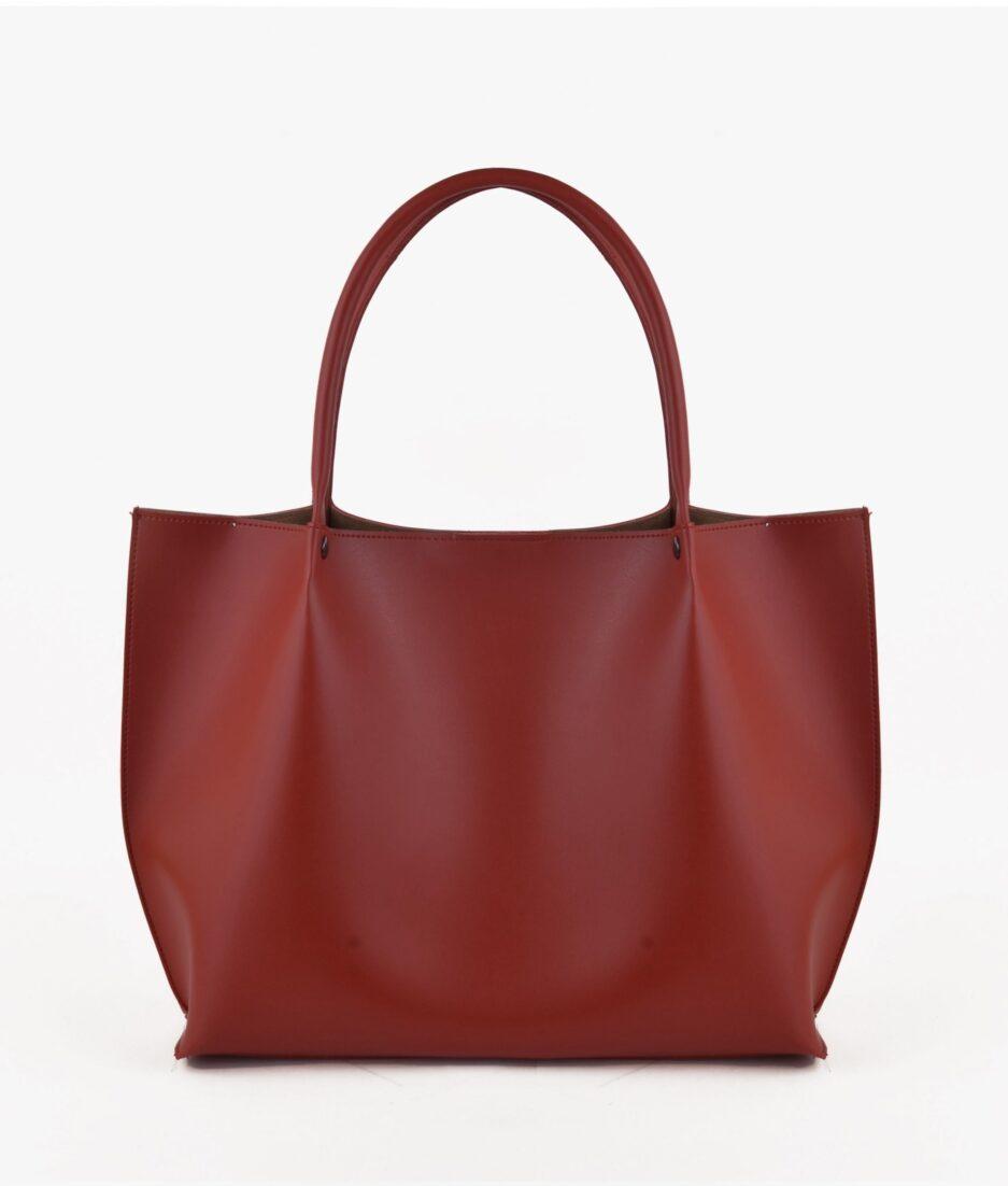 Maroon tote bag