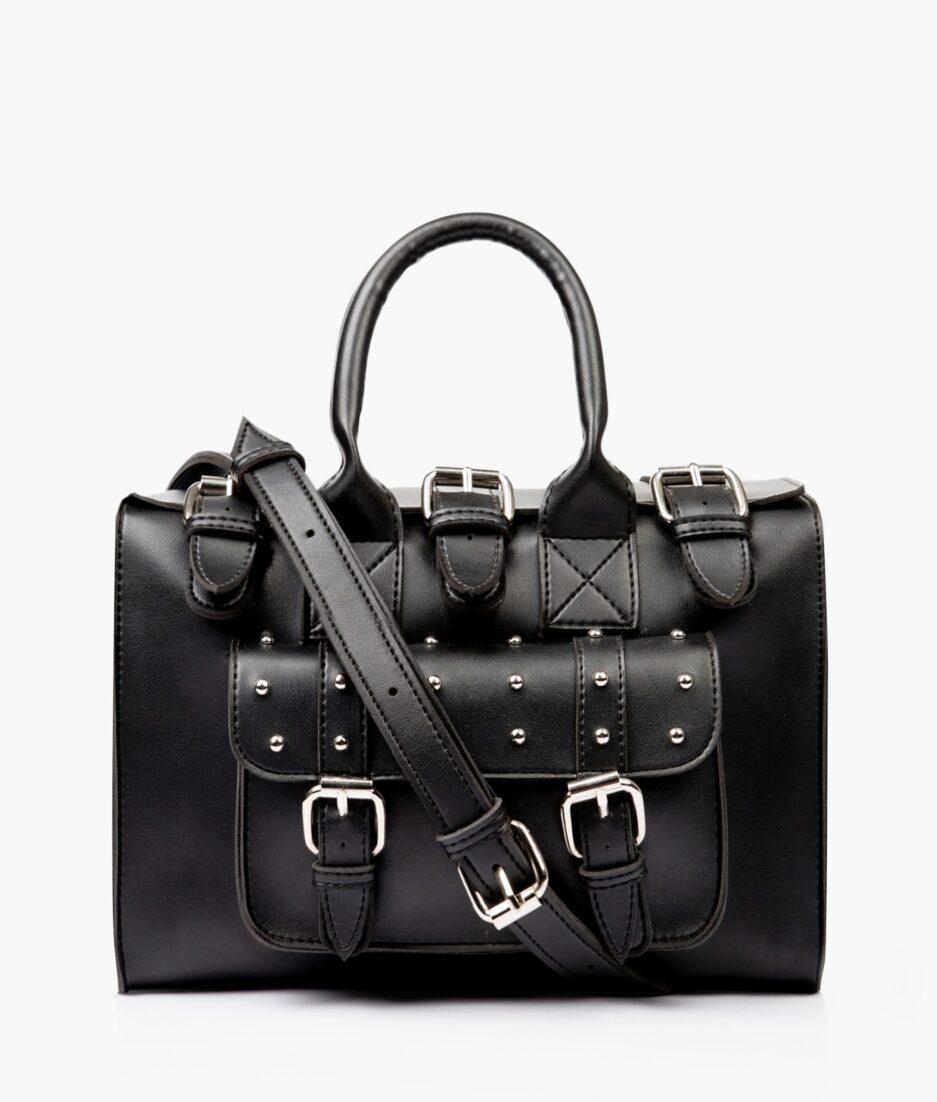 Black wilderness satchel bag