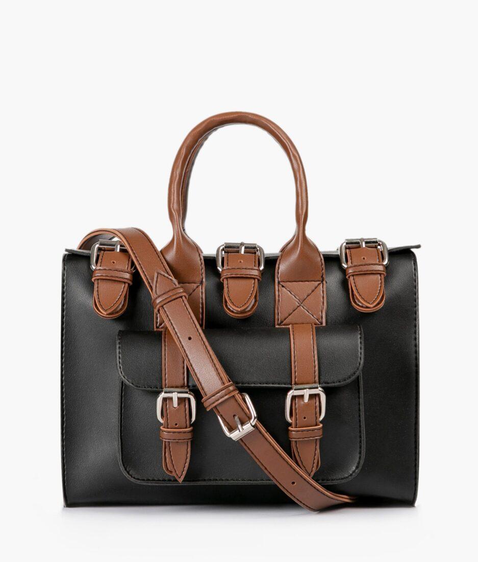 Black with brown wilderness satchel bag