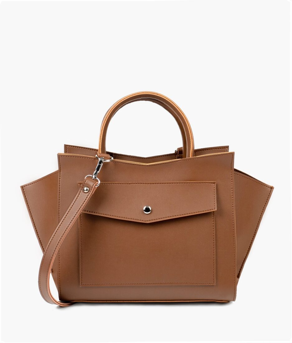 Brown top-handle bag