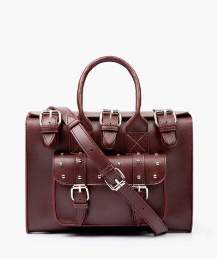 Burgundy wilderness satchel bag