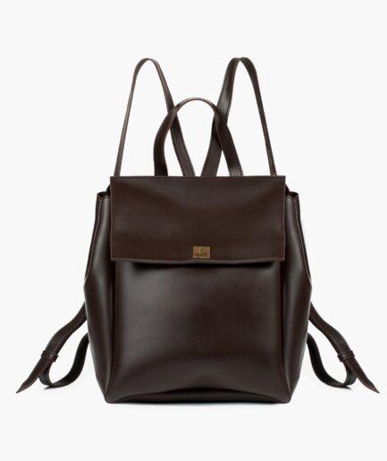 Dark brown mini backpack