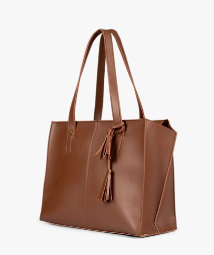 Horse brown over the shoulder tote bag