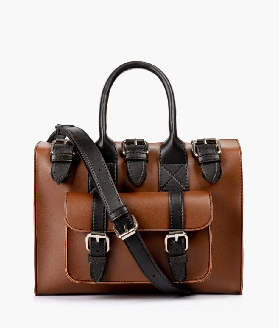 Horse brown with black wilderness satchel bag