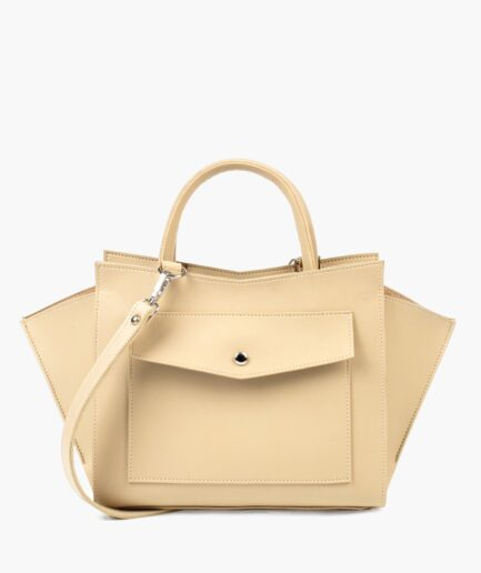 Off-white top-handle bag