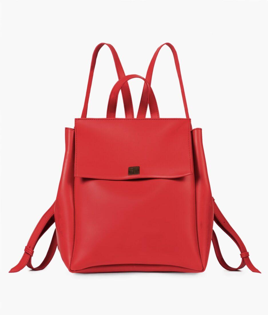 Red mini backpack