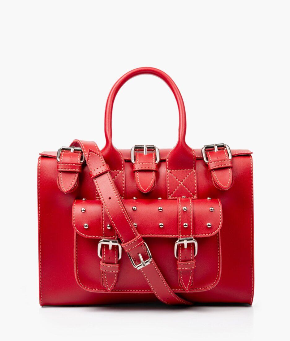 Red wilderness satchel bag