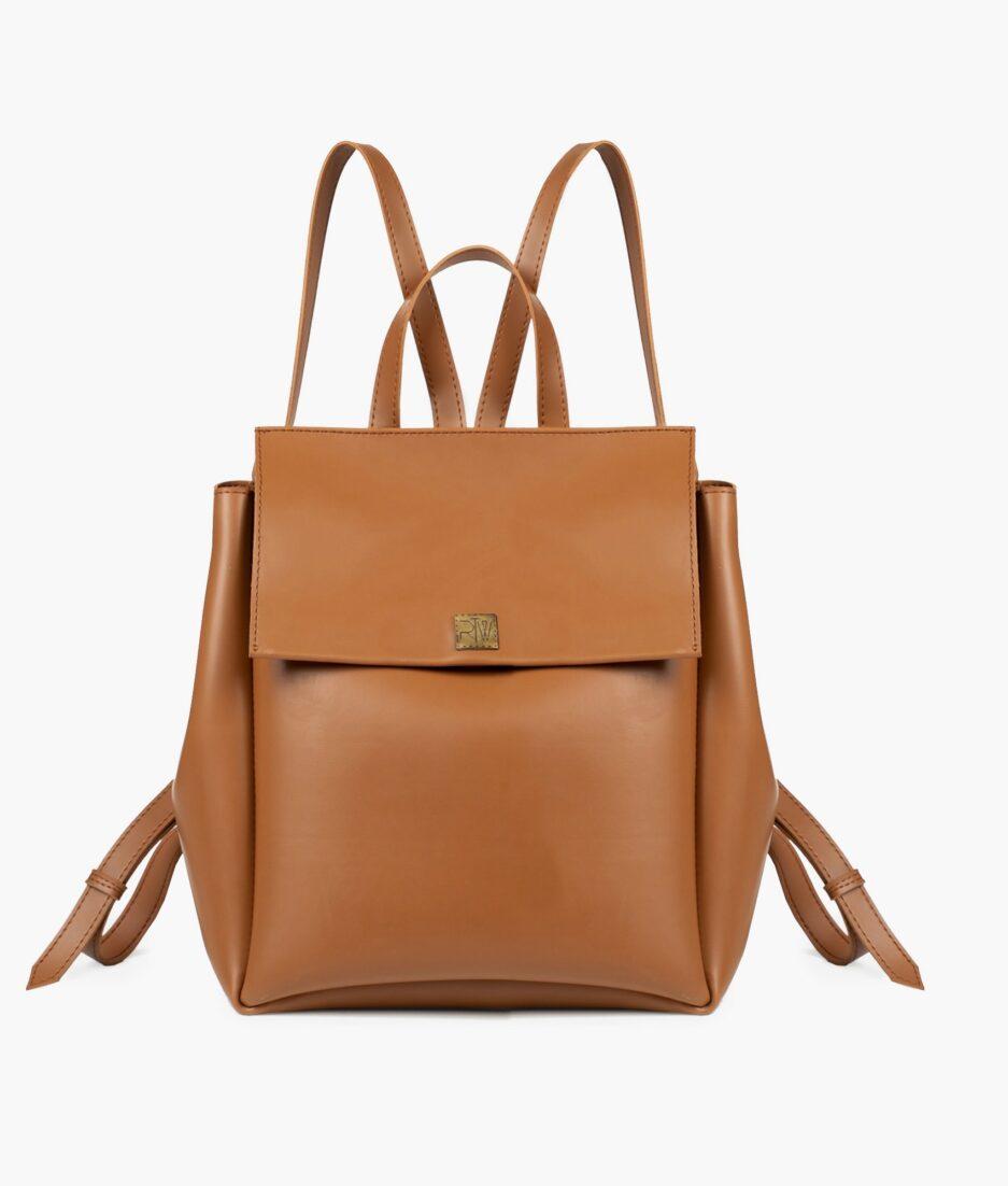 Tan mini backpack