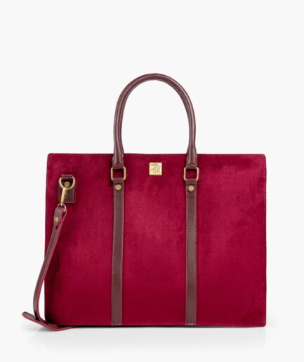 -34% Have Questions?Ask us BURGUNDY SUEDE LAPTOP BAG