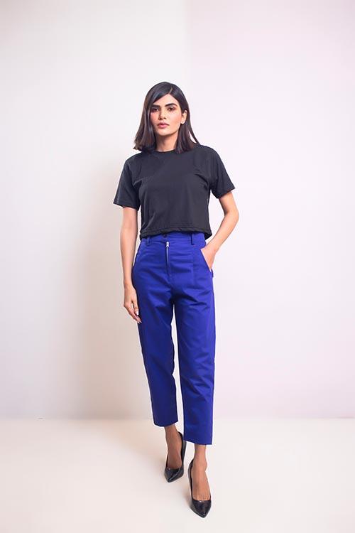 Blue Straight Pants